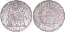 France 10 Francs Hercule - 1967 Argent