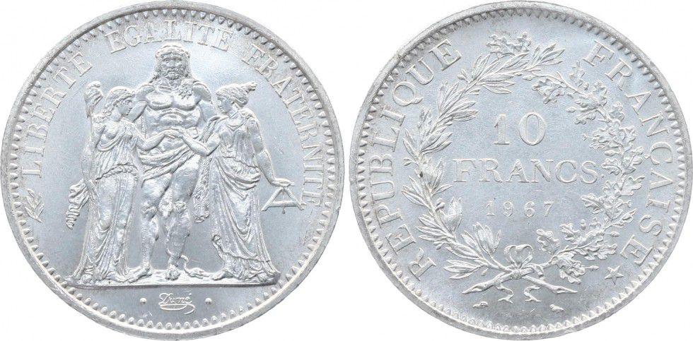 France 10 Francs Hercule - 1967