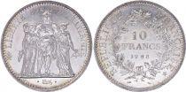 France 10 Francs Hercule - 1968 Argent