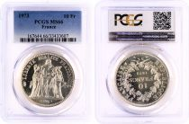 France 10 Francs Hercule - 1973  - PCGS MS 66