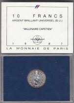 France 10 Francs Hugo Capet First King of France (987-996) - 1987 - SILVER