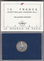 France 10 Francs Hugues Capet Roi de France (987-996) - 1987 - BU ARGENT