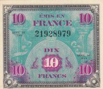 France 10 Francs Impr. américaine (drapeau) - 1944 - P.NEUF