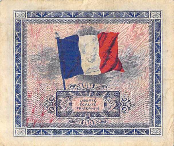 France 10 Francs Impr. américaine (drapeau) - 1944 Sans Série - TTB+