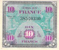 France 10 Francs Impr. américaine (drapeau) - 1944 Sans Série - TTB