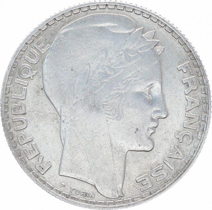 France 10 Francs Laureate head - 1933