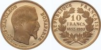 France 10 Francs Louis Napoleon Bonaparte - 1852-1993 - Gold - XF to AU - Proof