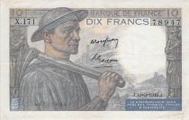 France 10 Francs Miner - 10-03-1949 Serial X.171 - VF