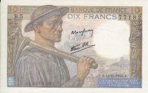 France 10 Francs Miner - 11-06-1942 Serial L.5
