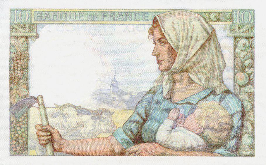 France 10 Francs Miner - 15-10-1942 Serial Q.11 - AU