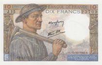 France 10 Francs Miner - 15-10-1942 Série J.15