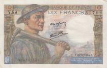 France 10 Francs Miner - 22-06-1944 Serial Y.86 - VF