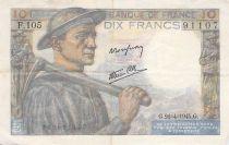 France 10 Francs Miner - 26-04-1945 Serial F.105 - VF