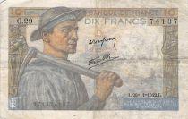 France 10 Francs Miner - 26-11-1942 Serial O.29 - F+