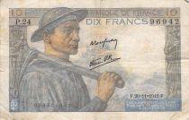 France 10 Francs Miner - 26-11-1942 Serial P.24 - F