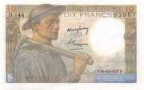 France 10 Francs Miner - 30-10-1947 Serial D.144 - XF+