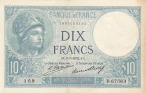 France 10 Francs Minerva - 08-09-1932 Serial D.67563 - a.XF
