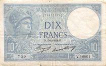 France 10 Francs Minerva - 17-12-1936 Serial V.68001 - F
