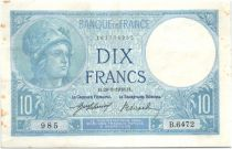 France 10 Francs Minerva - 1918
