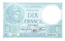 France 10 Francs Minerva - 1932-08-25 Serial M.69155