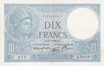 France 10 Francs Minerva - 1939