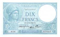 France 10 Francs Minerva - 1940-10-10 Serial D.77317