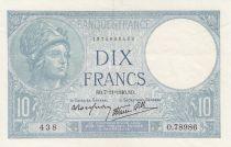 France 10 Francs Minerva - 1940