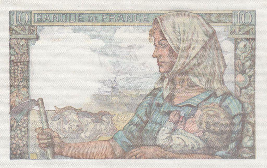 France 10 Francs Minerva - 20-01-1944 - Serial E.80