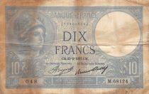 France 10 Francs Minerva - 25-02-1937 Serial M.68124 - F