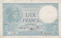 France 10 Francs Minerva - 26-12-1940 Serial M.82463 - VF