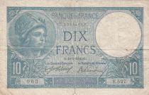 France 10 Francs Minerva  18-03-1916 - Serial E.527 - Fine