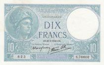 France 10 Francs Minerva -26-09-1940 - Serial  S.76602