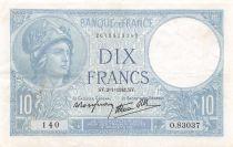 France 10 Francs Minerve - 02-01-1941 Série O.83037 - TTB
