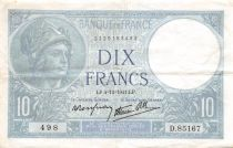 France 10 Francs Minerve - 04-12-1941 Série D.85167 - TTB