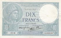 France 10 Francs Minerve - 05-03-1942 Série G.85516