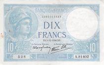 France 10 Francs Minerve - 05-12-1940 Série A.81402 - TTB