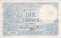 France 10 Francs Minerve - 05-12-1940 Série U.81136 - PTTB
