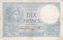 France 10 Francs Minerve - 06-04-1939 Série X.69191 - TB+