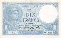 France 10 Francs Minerve - 06-07-1939 Série Q.70015 - TTB+