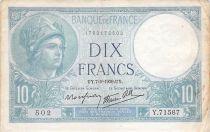 France 10 Francs Minerve - 07-09-1939 Série Y.71567 - PTTB