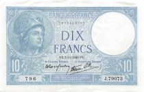 France 10 Francs Minerve - 07-11-1940 Série J.79073 - TTB+