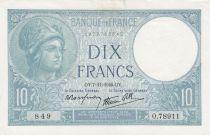 France 10 Francs Minerve - 07-11-1940 Série O.78911 - SUP