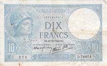 France 10 Francs Minerve - 10-10-1940 Série D.76874 - TB+