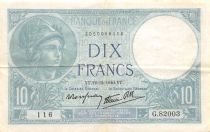 France 10 Francs Minerve - 12-12-1940 Série G.82003 - TTB