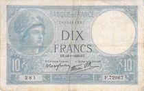 France 10 Francs Minerve - 14-09-1939 Série F.72067 - TB+