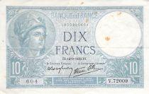 France 10 Francs Minerve - 14-09-1939 Série V.72009 - TTB