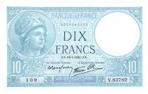 France 10 Francs Minerve - 16-01-1941 - Série V.83782