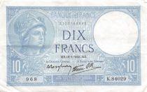 France 10 Francs Minerve - 16-01-1941 Série K.84029 - TTB+
