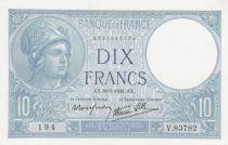 France 10 Francs Minerve - 16-01-1941 Série V.83782 - SPL