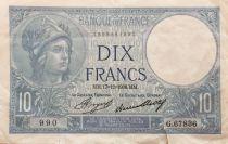 France 10 Francs Minerve - 17-12-1936 Série G.67836 - TTB